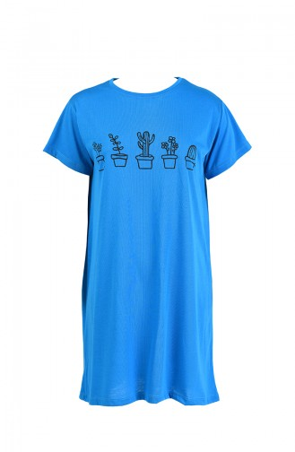 Baskılı Tshirt 8133-05 Mavi