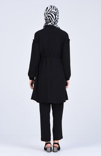 Aerobin Fabric Tunic Trousers Double Suit 2050-04 Black 2050-04