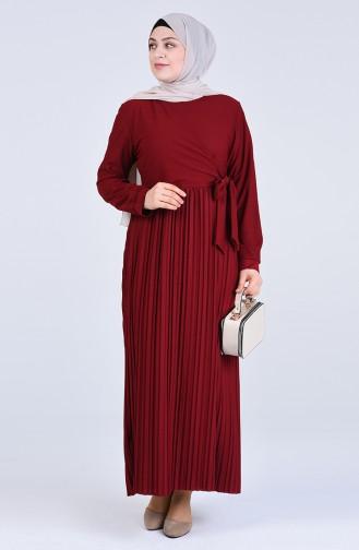 فستان أحمر كلاريت 8024-04