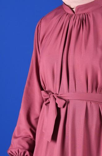 Beige-Rose Hijap Kleider 10143-