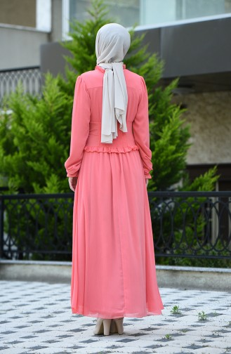 Robe de Soirée à Boutons 8107-12  Pelure D oignon 8107-12