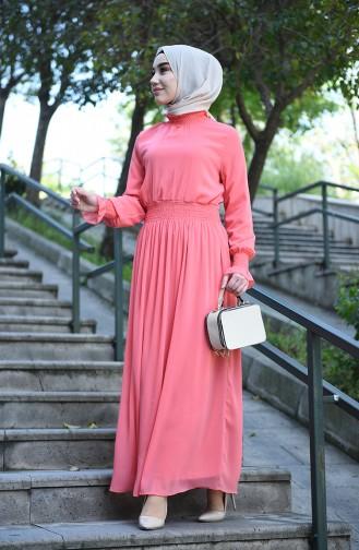 فستان شيفون مبطن سومون 8154-05