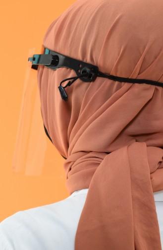 Transparentes Gesichtsschutzvisier 3001-01 Schwarz 3001-01