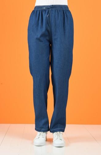 Beli Lastikli Kot Pantolon 4045-02 Lacivert