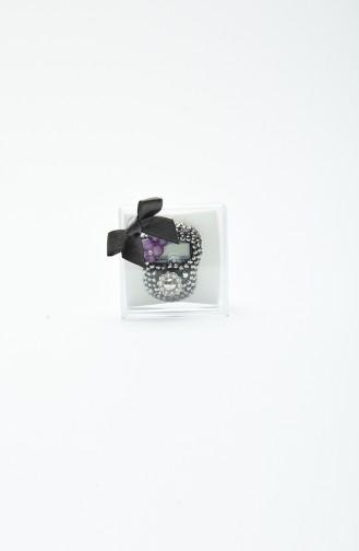 Taşlı Zikirmatik H15-01 Gümüş Gri
