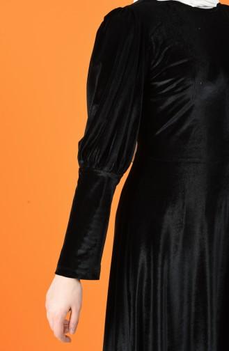 Schwarz Hijap Kleider 60125-01