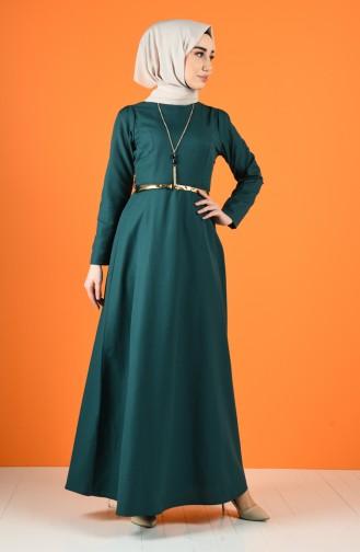 Robe Hijab Vert emeraude 6460-02