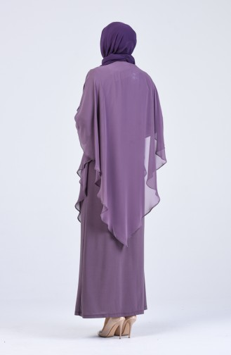 Lilac Islamic Clothing Evening Dress 1019-02