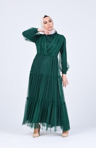 Habillé Hijab Vert emeraude 3052-01