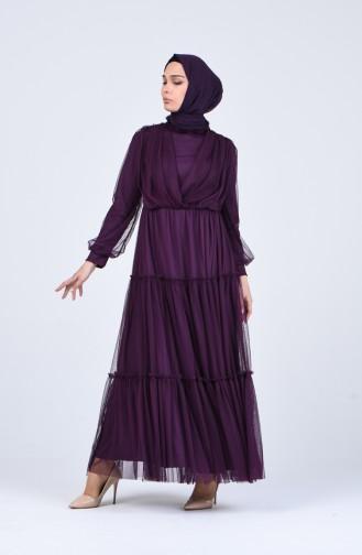 Habillé Hijab Pourpre 3052-02