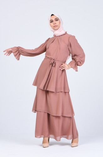 Robe Hijab Rose Pâle 2027-01