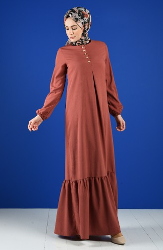 Dunkel-Rose Hijap Kleider 1394-06