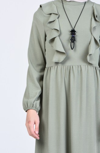 Aerobin Fabric Flounce Dress 2202-02 Sea Green 2202-02