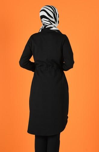 Beli Büzgülü Tunik 1297-03 Siyah