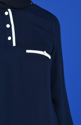 Navy Blue Blouse 1559-06