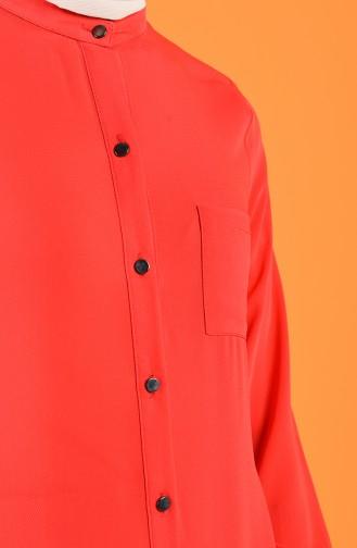 Cepli Gömlek 1558-01 Kırmızı