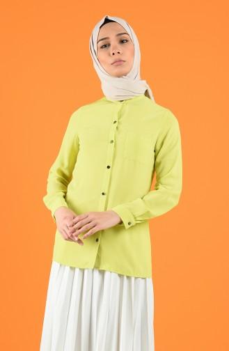 Cepli Gömlek 1558-02 Yağ Yeşili