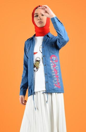 طقم أزرق جينز 2060-01
