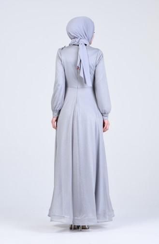 فساتين سهرة بتصميم اسلامي رمادي 1020-02