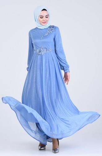 Habillé Hijab Bleu Bébé 1020-03