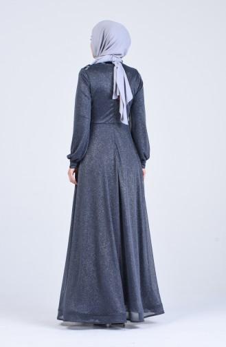 Anthracite İslamitische Avondjurk 1020-04