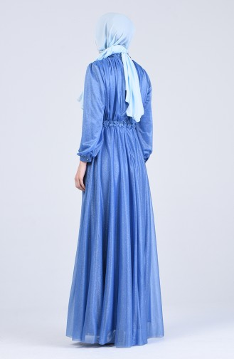Habillé Hijab Bleu Bébé 1021-06