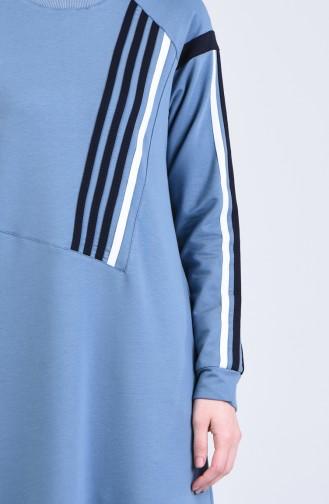 Blau Hijap Kleider 9201-04