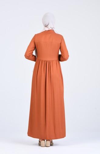فستان أخضر تبغ 3146-02