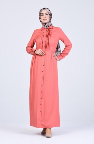 Robe Hijab Saumon 3146-03