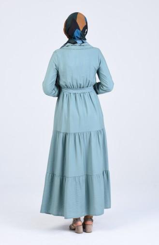 Robe Hijab Vert noisette 8044-02