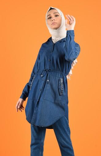 Jeansblau Tunikas 2003-01