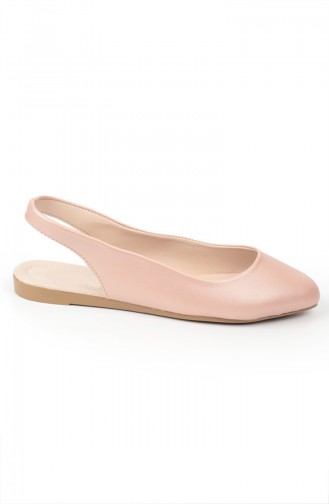 حذاء مسطح زهري البشرة 6686-6