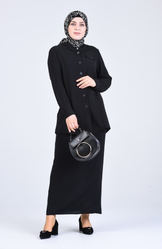 Black Blouse 1303-04