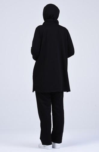Büyük Beden Eşofman Takım 10028-05 Siyah