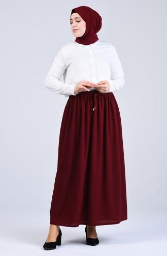 Claret red Skirt 2040-06