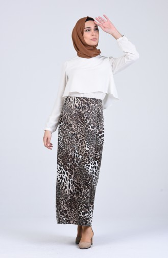 Brown Skirt 2132-02
