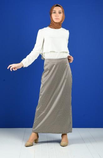 Brown Skirt 2134-01