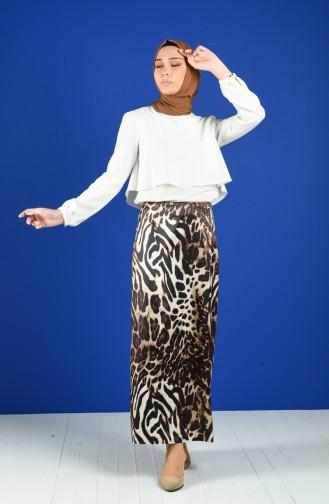 Brown Skirt 2135-03