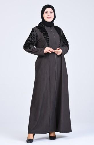 Dunkel-Nerz Abayas 8003-01