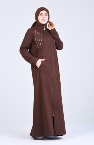 Abayas Couleur Brun 10030-03