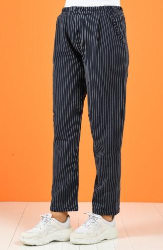 Pantalon Bleu Marine 8127A-02