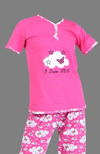Dunkelrose Pyjama 2450-05