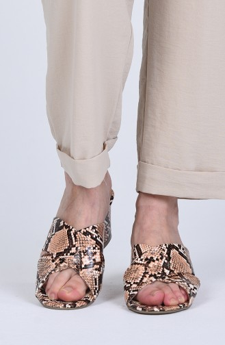 Chaussures a Talons Tabac 9100-13