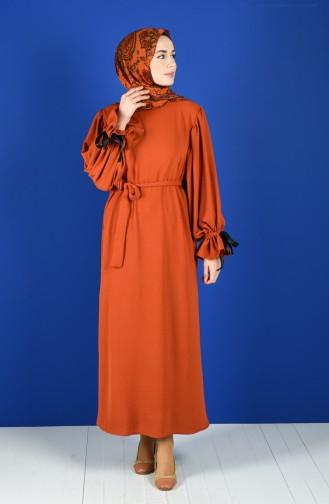Robe Hijab Couleur brique 5780-04