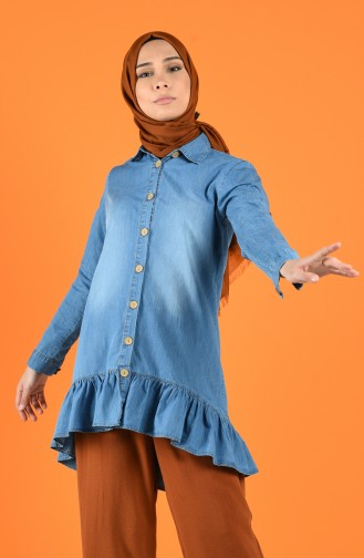 Jeans Tunika 3021-01 Blau 3021-01