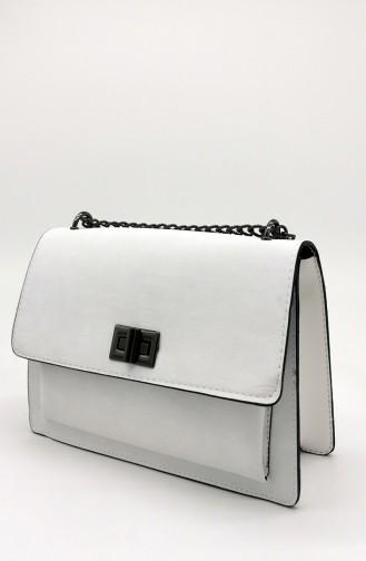 Weiß Schultertasche 4110-09