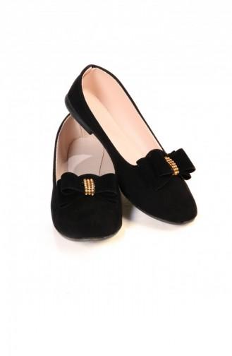 Black Woman Flat Shoe 033