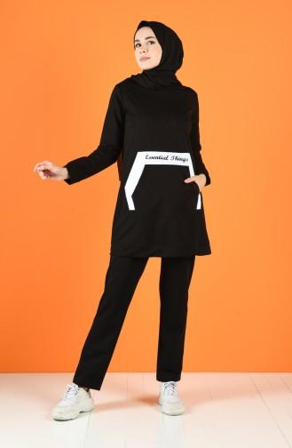Black Sweatsuit 9218-01