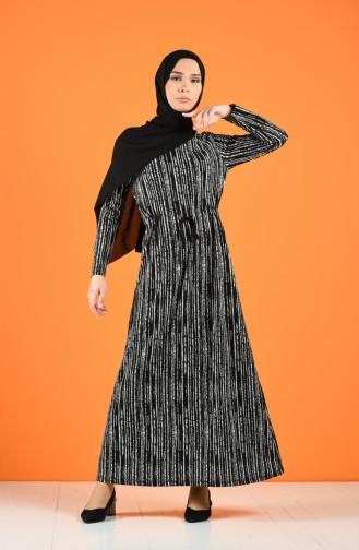 Schwarz Hijap Kleider 0222C-02