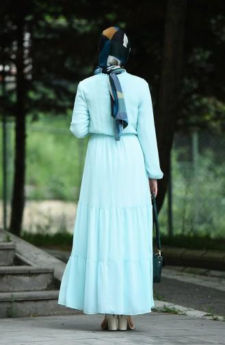 فستان أخضر فاتح 8037-16